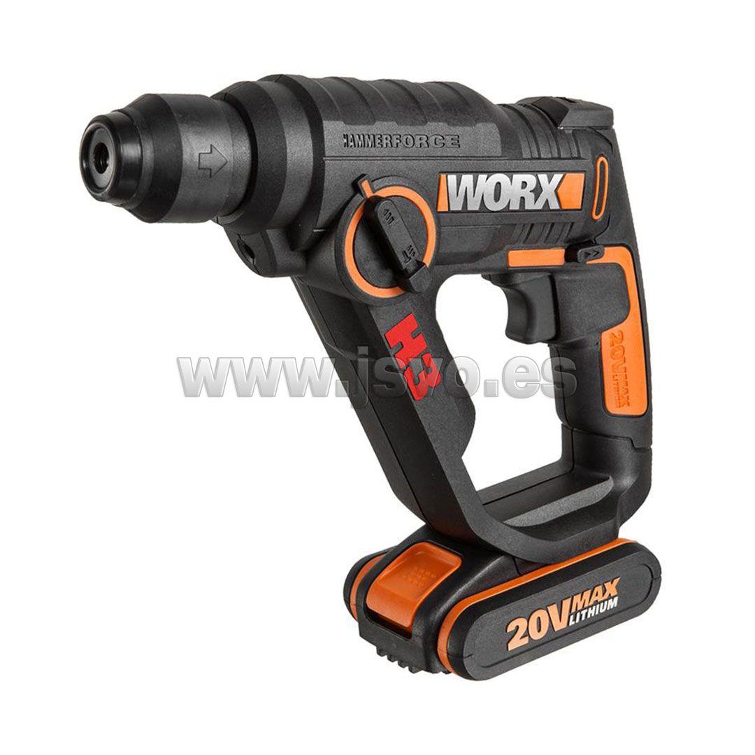 Martillo Sds Plus Taladro Y Atornillador Con 2 Baterías De 20v 2 0ah Li Ion Worx Wx390 1 H3 3 En 1 Www Jsvo Es Drill Hammer Drill Power Drill