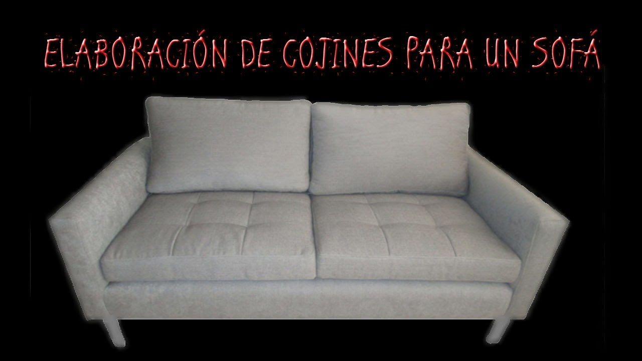 ELABORACIÓN DE COJINES PARA SOFÁ | Cojines sofa, Cojines