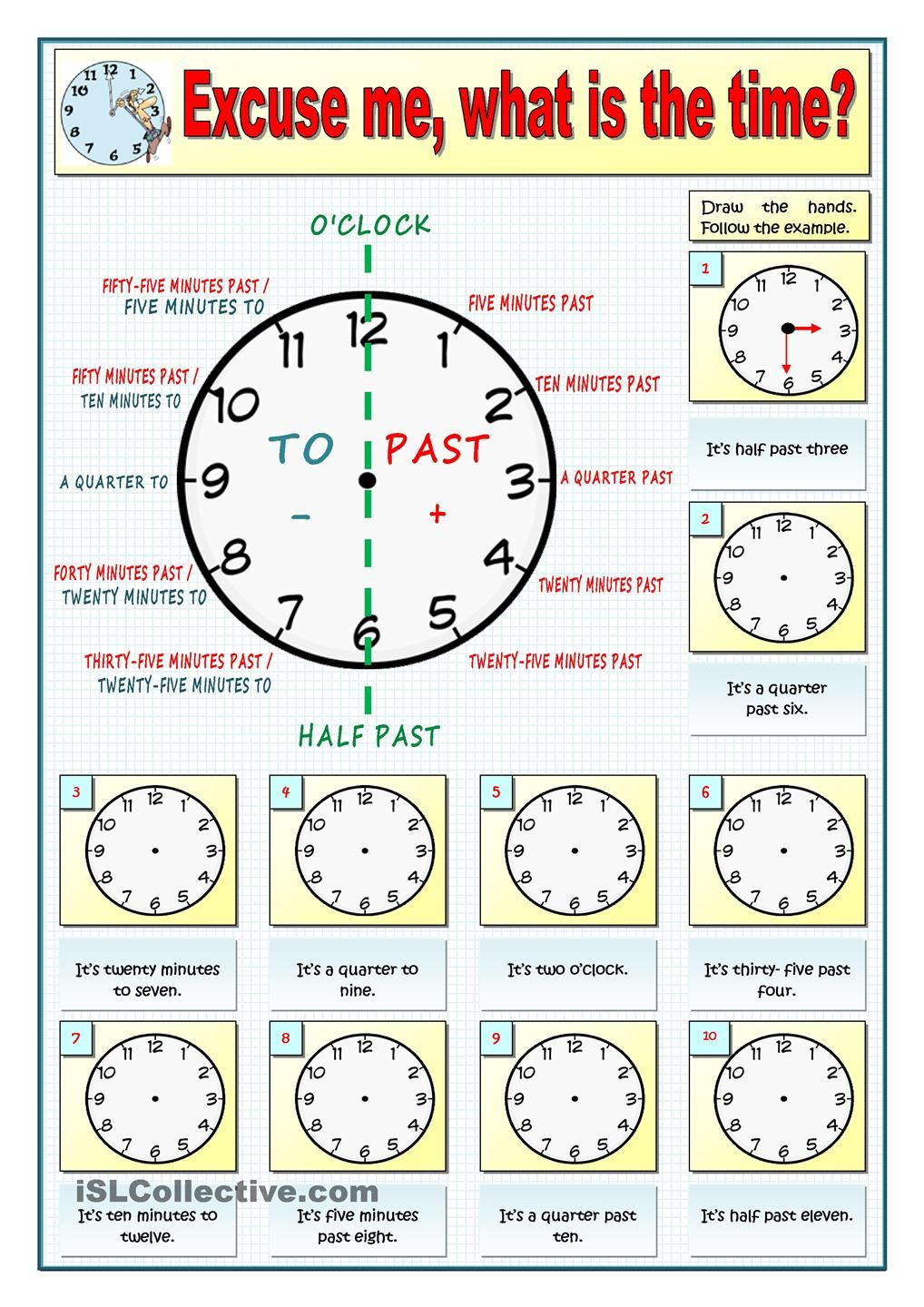 EXCUSE ME, WHAT IS THE TIME   PART 20   Imparare inglese, Pagine di ...