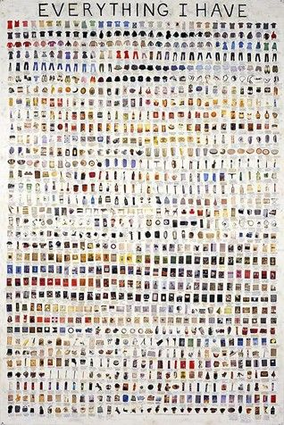 SIMON EVANS, Everything I Have, pen, paper, scotch tape and white out, 2008