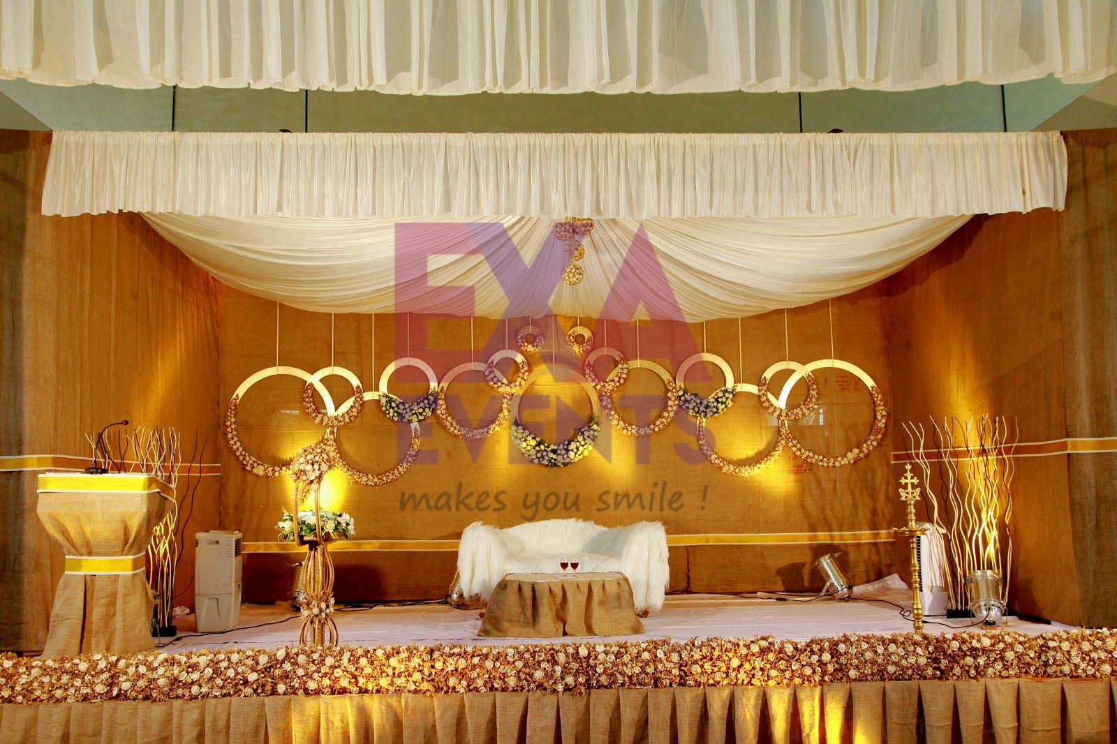 Stage Decoration Kottayam : Kerala christian wedding stage decor planner in
