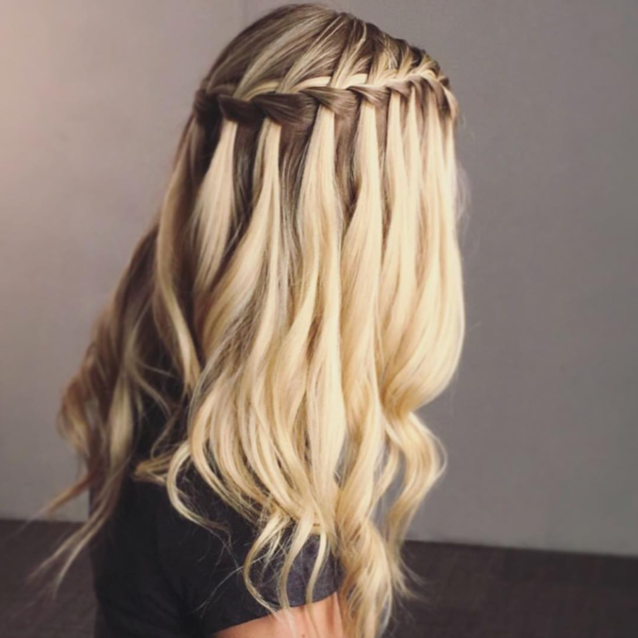 """211caa2f9f Diamond  Waterfall Braid - The Best Braids For Your Face Shape -  Southernliving. Why It Works  """"It allows you to keep most of the hair down"""