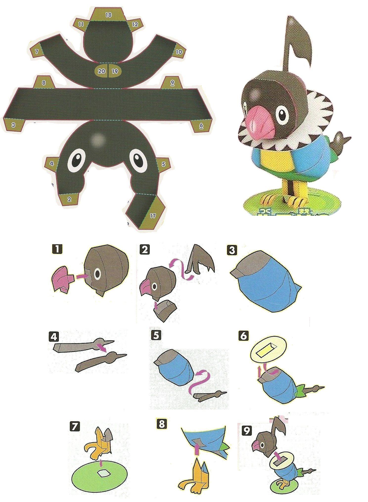 easy pokemon papercraft chatot chokipeta pokemon 結婚式アイデア