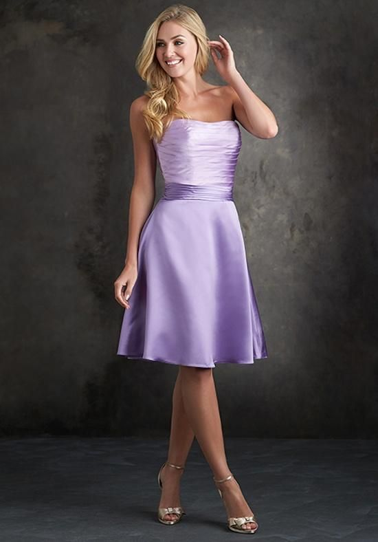 Metallic threading incorporates shimmer into the classic silhouette of this dress.