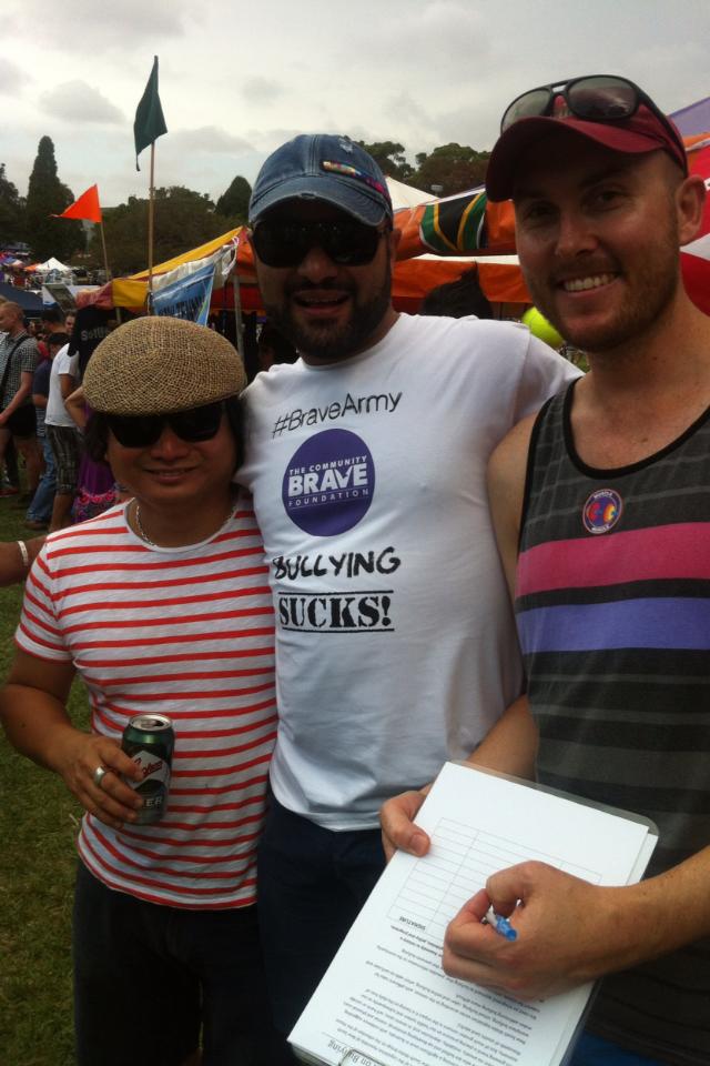 #BraveArmy volunteer Angelo with Fair Day folks