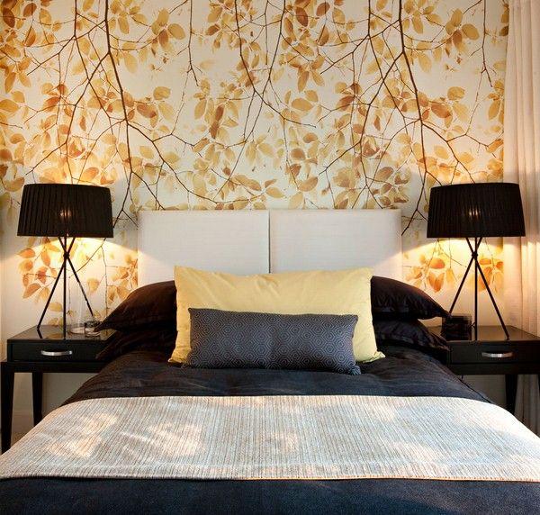 Schönen Blumentapete Schlafzimmer Design Ideen