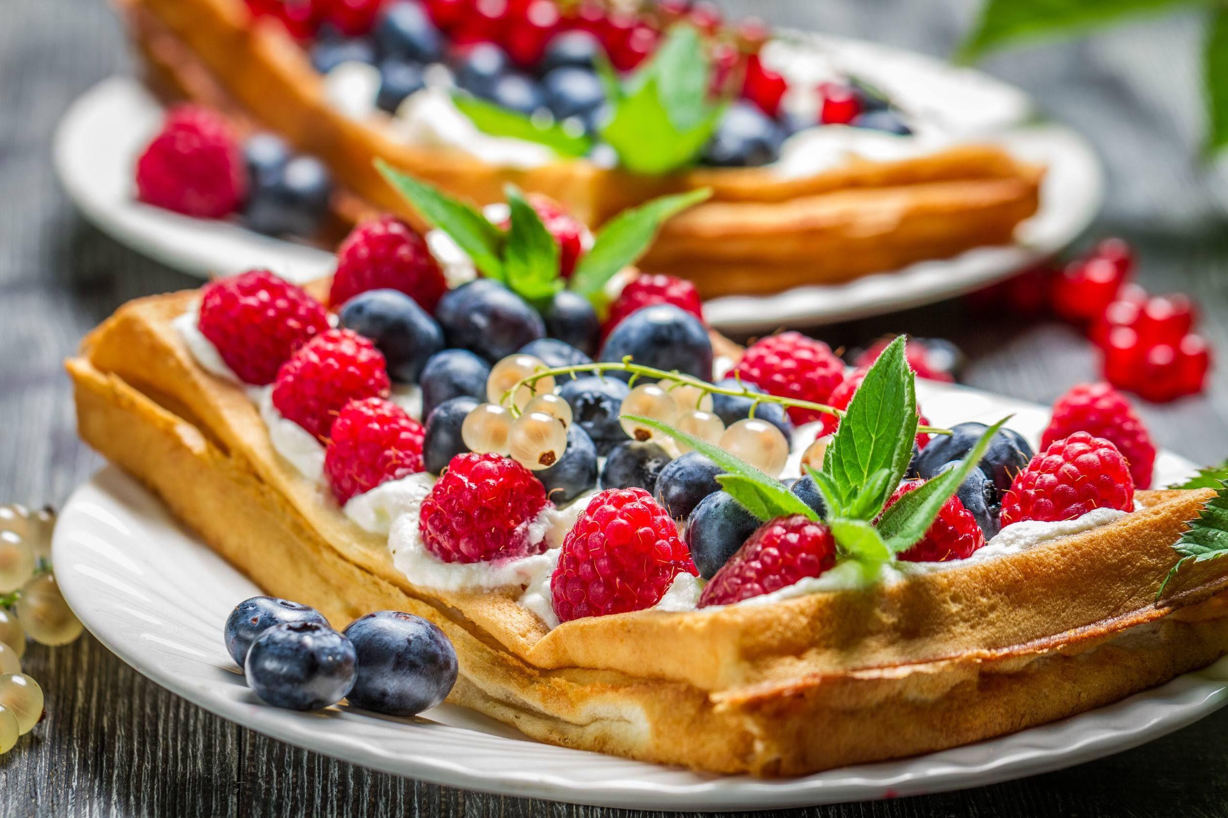 Strona główna Blox.pl Dessert waffles, Food, Yummy waffles
