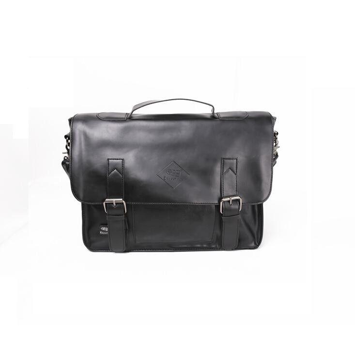 PU Leather Messenger Crossbody Shoulder Travel Bag