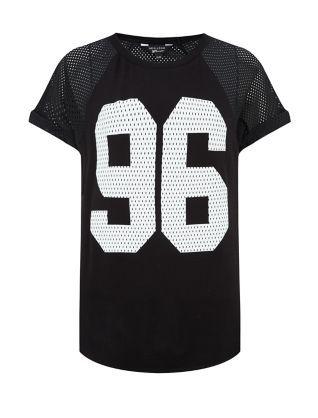 This Teens Black 68 Airtex Baseball T Shirt with a pair of