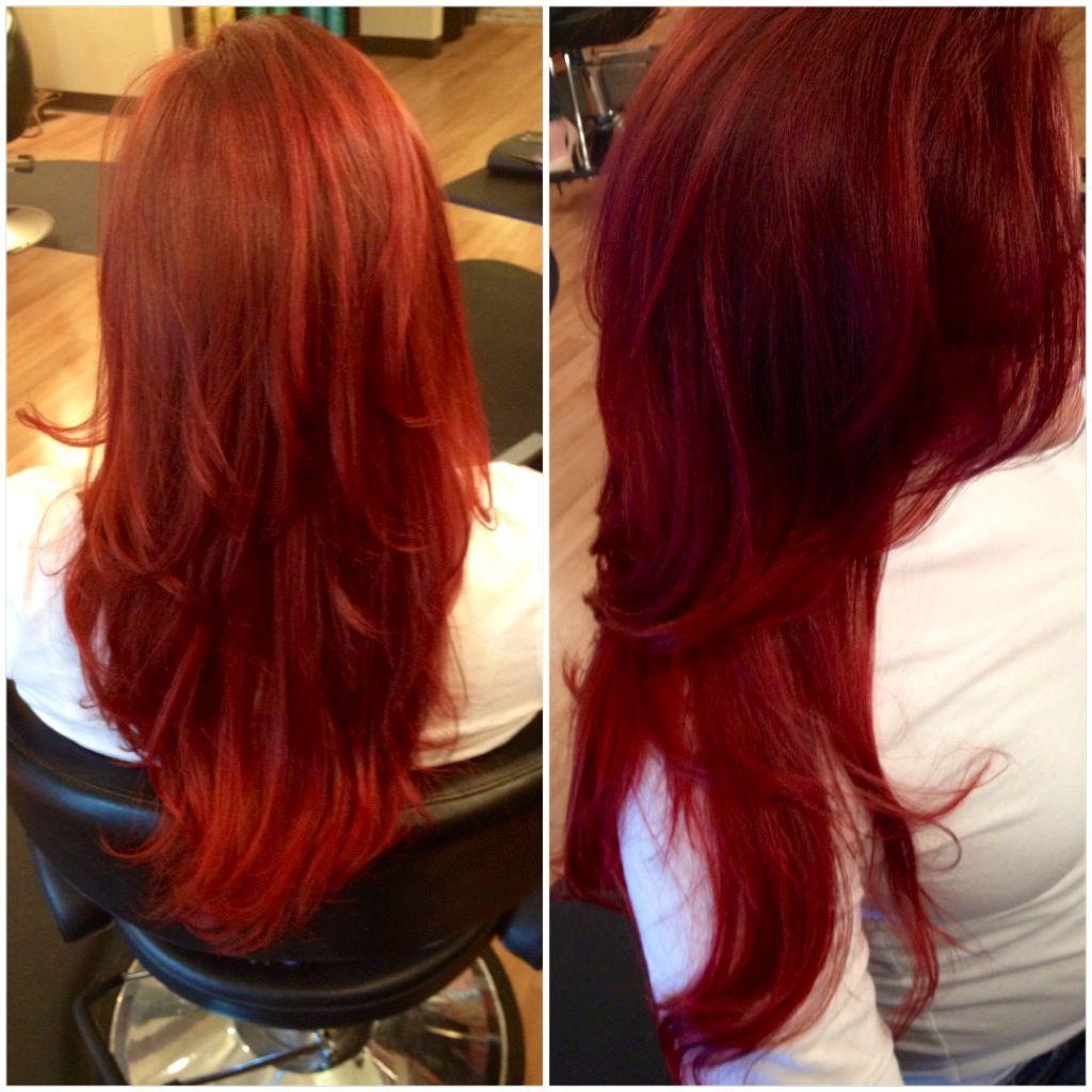 Beauty long red hair layers @Chris Khoshghadami | HAIR ...