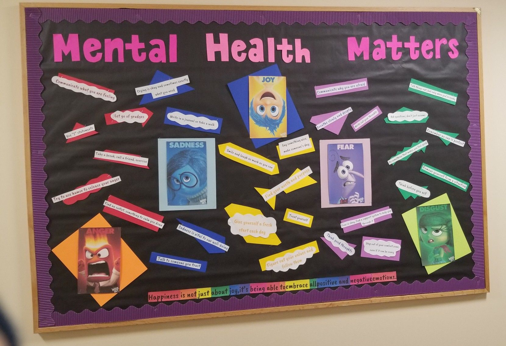 Mental health bulletin board