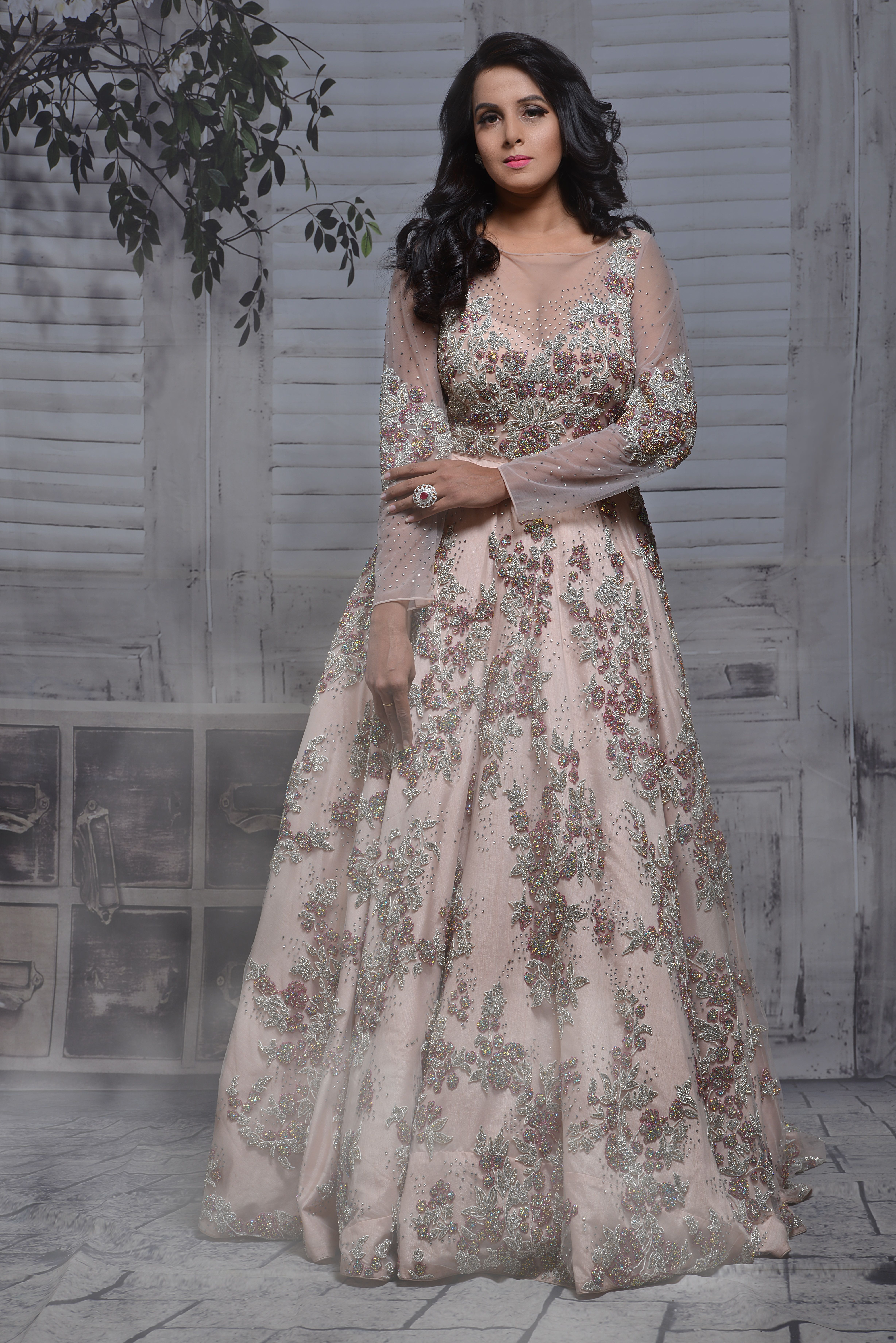 4a4265abbc Pastel Gowns - This absolutely beautiful gown is perfect for your Reception  Ceremony. Check out more Indian Reception Gowns at CTC Mall, Moti Nagar.