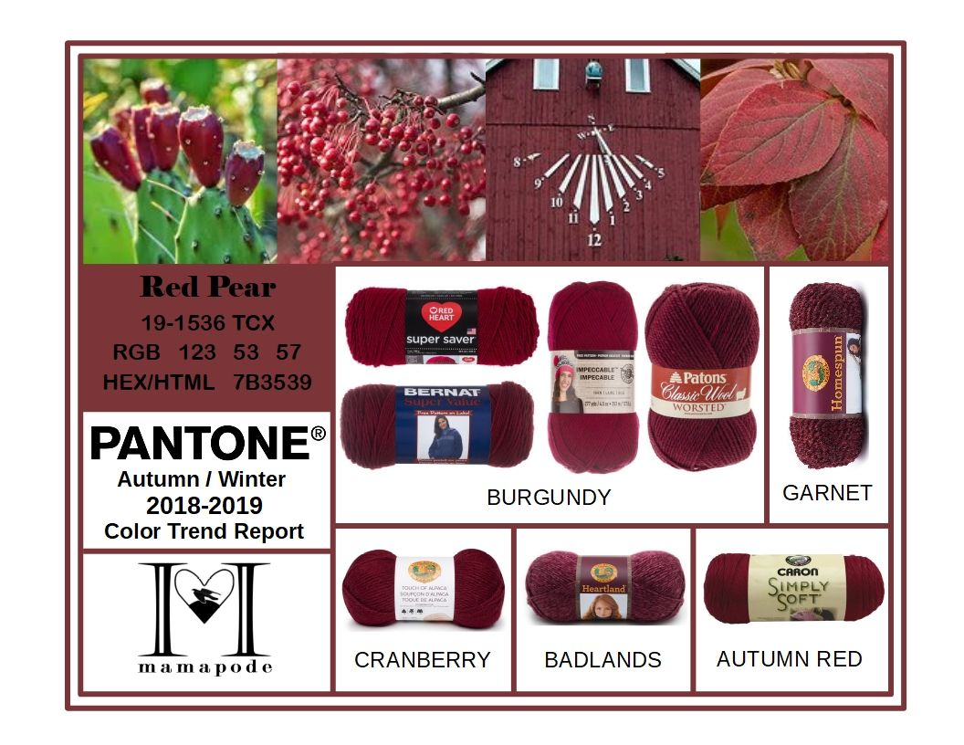 Red Pear - Pantone Color Trend Report Autumn Winter 2018 ...