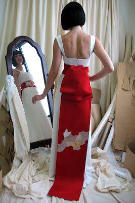Japanese Modern Wedding Dress Design With Big Ribbon Wedding Dresses Simple Wedding Dre Japanese Wedding Dress Modern Wedding Dress Designer Wedding Dresses