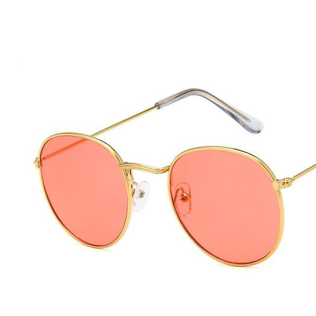 dea7223494 Luxury Mirror Sunglasses Women Men Brand Designer Glasses Lady Round Sun  Glasses Street Beat Mirrored