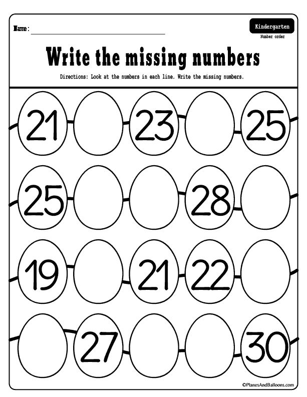 Missing Numbers 1 50 Worksheets For Your Easter Holiday Lessons Counting Activities Kindergarten Kindergarten Math Worksheets Counting Kindergarten Math Worksheets
