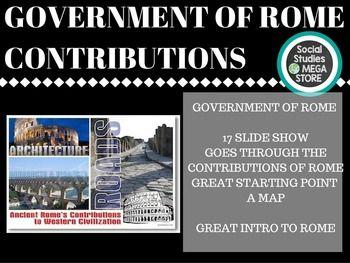 contribution of roman civilization
