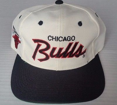 1b4562288c78fd Chicago Bulls Vintage Snapback Sports Specialties Script Hat NBA Cap Rare MJ