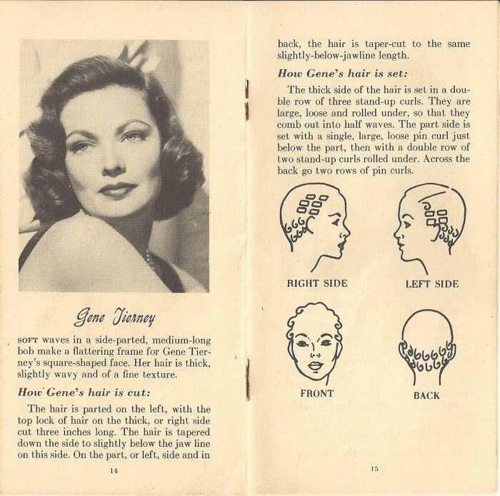 Gene Tierney pin curl srt set very reminiscent of dita von teese ...