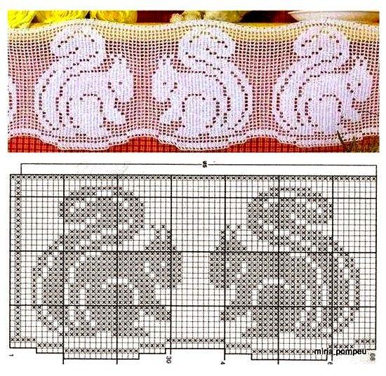 Hermosas cenefas crochet 12 ganchillo pinterest cenefa hermosa y ganchillo - Cenefas de crochet ...