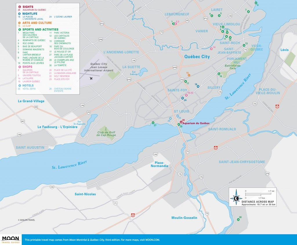 Map of Greater Qubec City Quebec Quebec Pinterest Quebec
