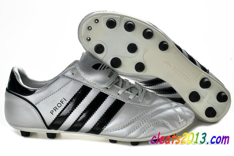 4dc7bfbbc41 Adidas Profi FG Kangaroo Leather Classic Soccer Cleats - Silver Black  59.59