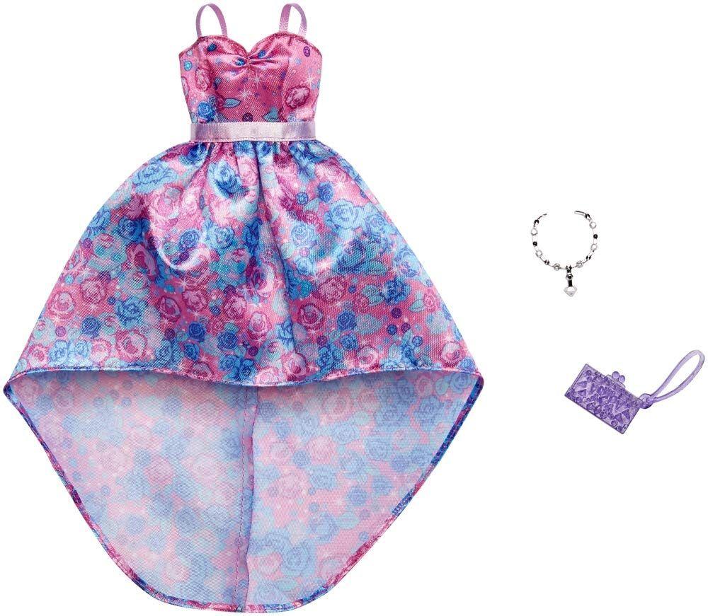 MATTEL BLUE FLORAL DRESS BARBIE FASHIONISTAS FASHION CLOTHES