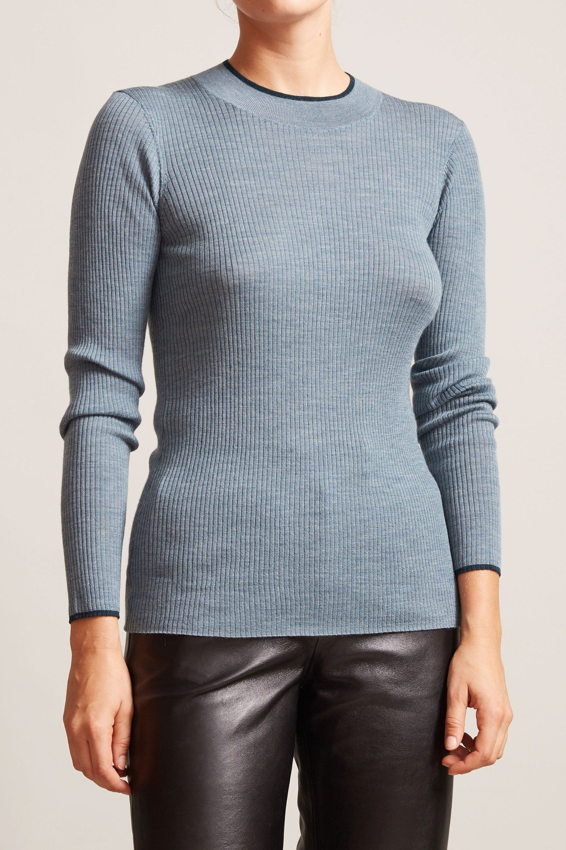 Rue Blanche Meri Ribbed Sweater in Celadon