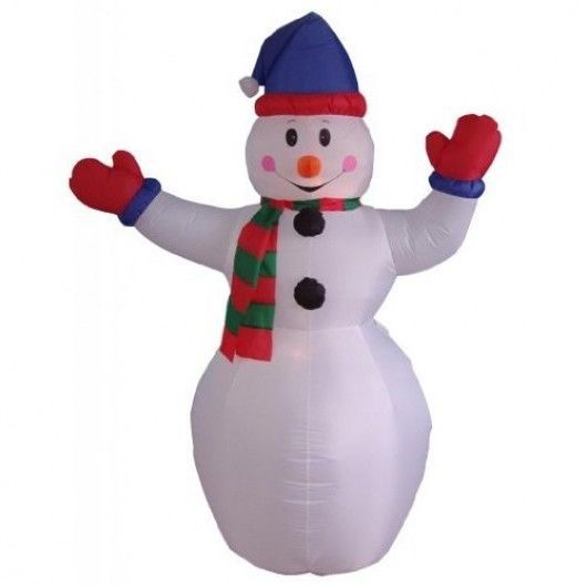 Snowman Airblown Christmas Inflatable 6 Ft Yard Indoor Lighted - inflatable christmas yard decorations