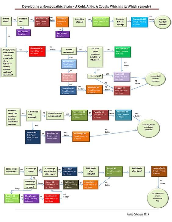 Homeopathy Cold Flu Flow Chart