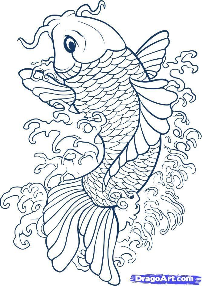 tatuajes de pez koi diseños y significado parte 3 | Tatuajes, Dibujo ...