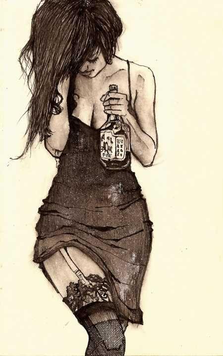 As Belas Mulheres A Lapis E Tinta De Zachary Johnson Arte Triste