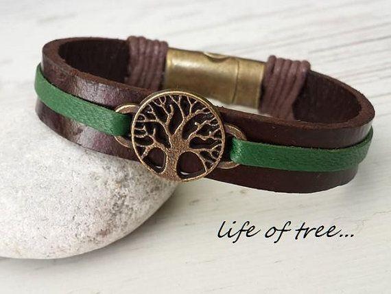 Leather Bracelets, Tree of Life  Bracelet, Womens Tree of Life Jewelry, Anniversary Gift, Birthday Gift,Cuff Bracelets,Bohemian Bracelet