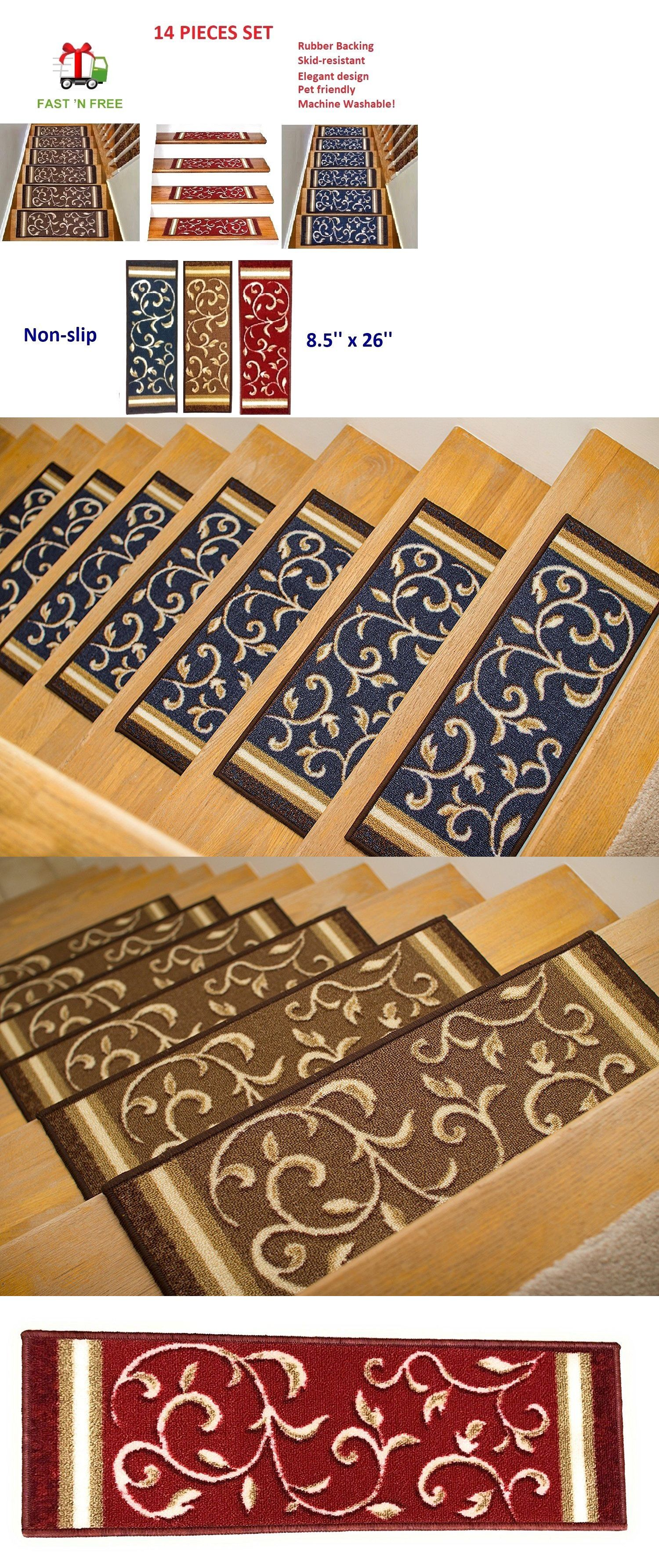 Details About 16 Pcs Non Slip Quality Carpet Stair Treads   Non Skid Carpet Stair Treads   Stair Runner   Bullnose Carpet   Flooring   Adhesive   Amazon