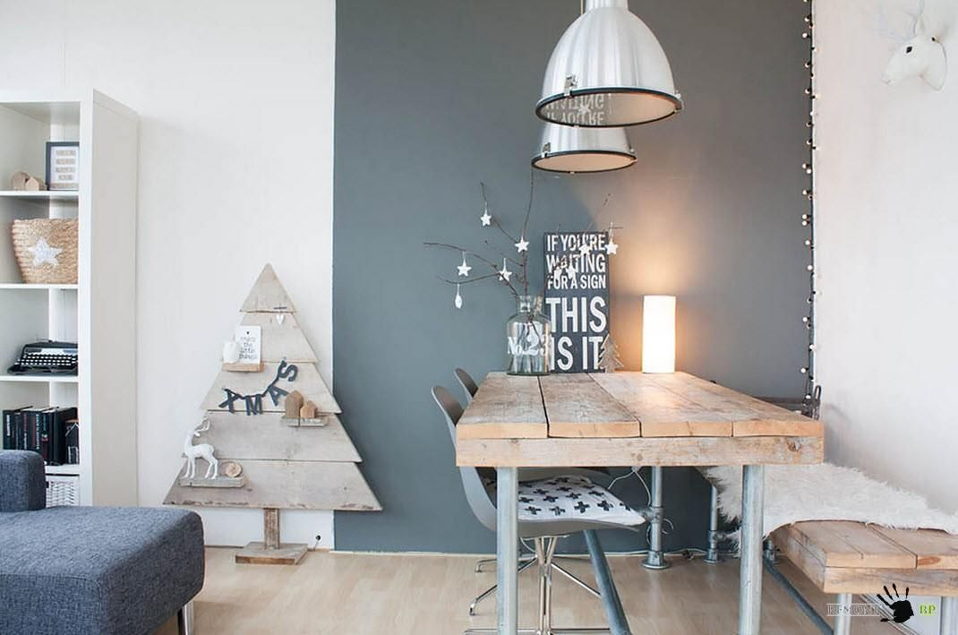 Scandinavian style on a budget in a small city apartment eclectic dining room other metro louise de miranda houzz its decorated for christmas