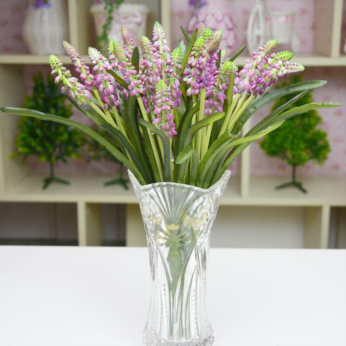 Silicona gel lavanda flor artificial flor artificial - Plantas secas decoracion ...
