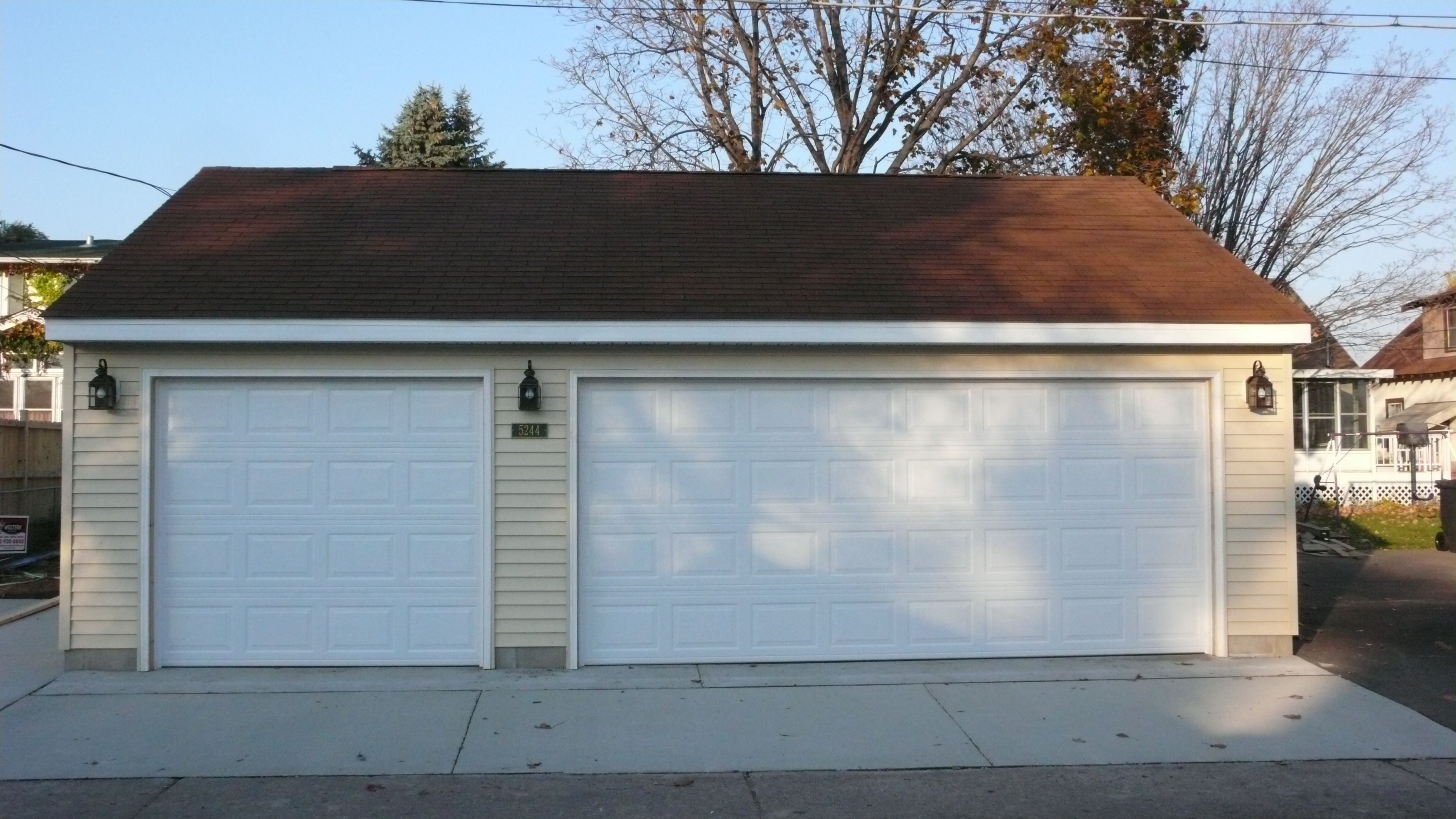 Standard Garage Door Sizes Heights And Weights Traba Homes Double Width Dimensions With One