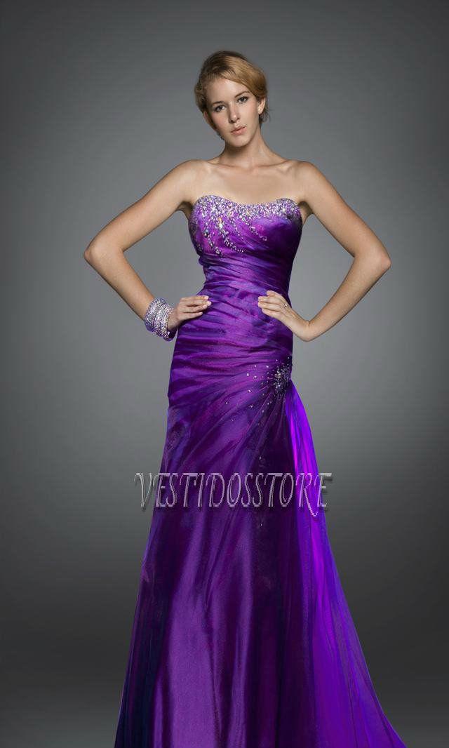 Me gustan mucho los vestidos de fiesta purpuras | Violeta ...
