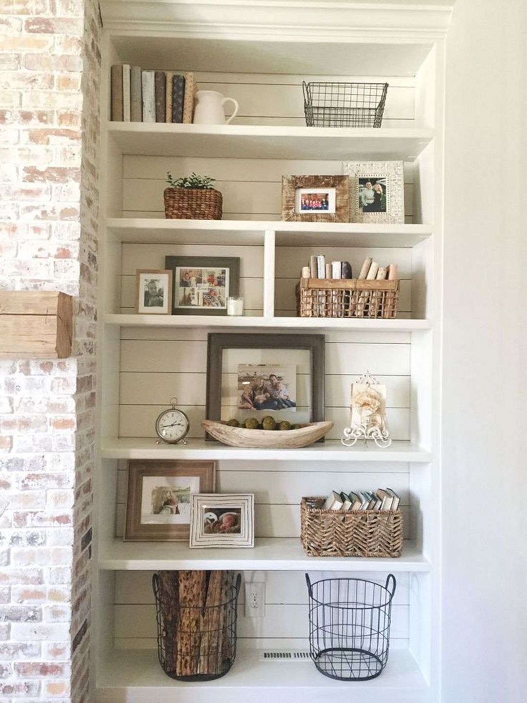 15 Best Diy Shelving Ideas As Extra Storage For Awesome Home Decoration Dexorate Living Room Shelves White Wash Brick Fireplace Bookshelves Built In