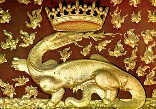 La salamandre, emblème du roi François Ier en 2020 | Salamandre ...
