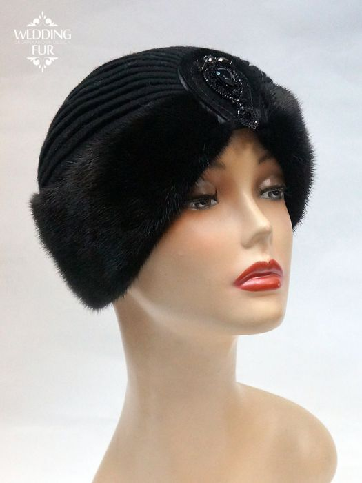 шапка меховая из норки чалма норковая женская вязание меховые