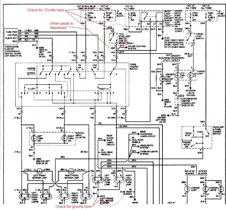 94 suburban brake light schematic  Google Search | Car