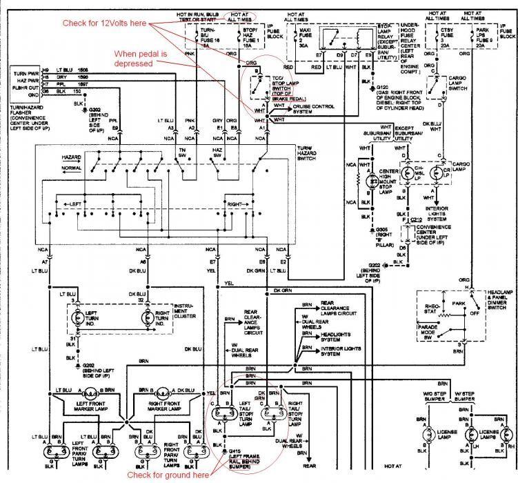 94 suburban brake light schematic  Google Search | Car