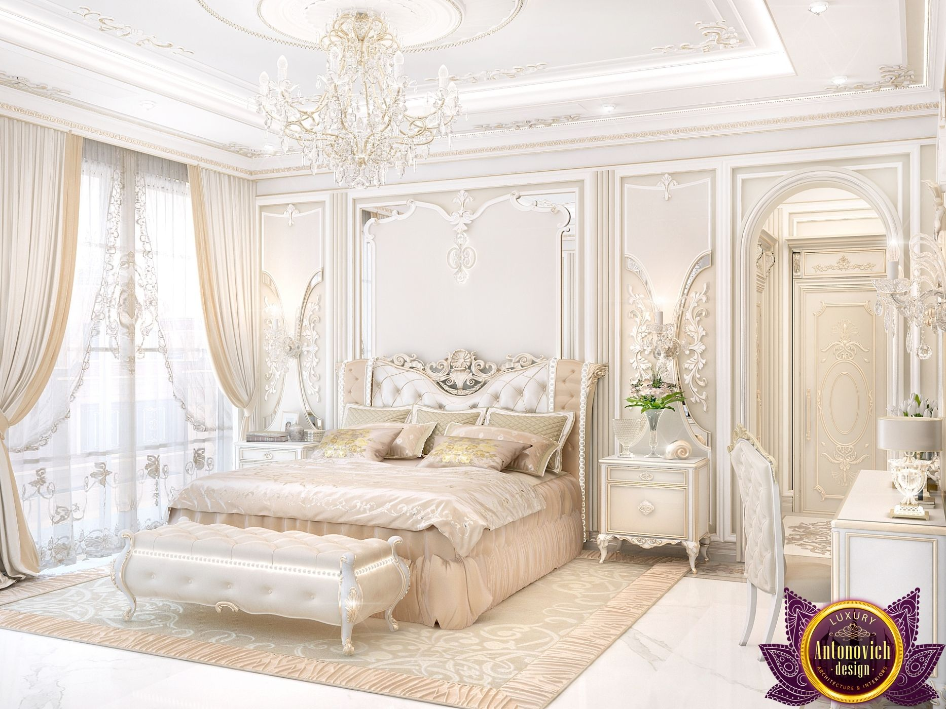 Master Bedroom design in classic style  My Dream Bedroom in 2019  Bedroom, Master Bedroom