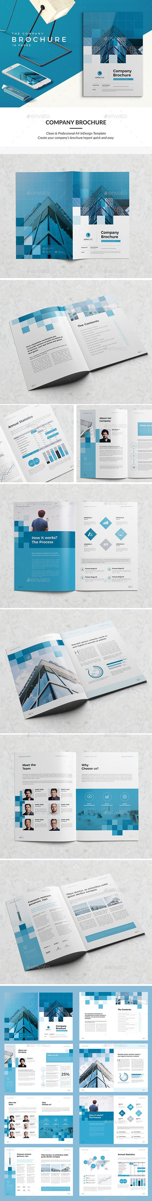 Modern Company Brochure  Pages  Indesign Indd Professional