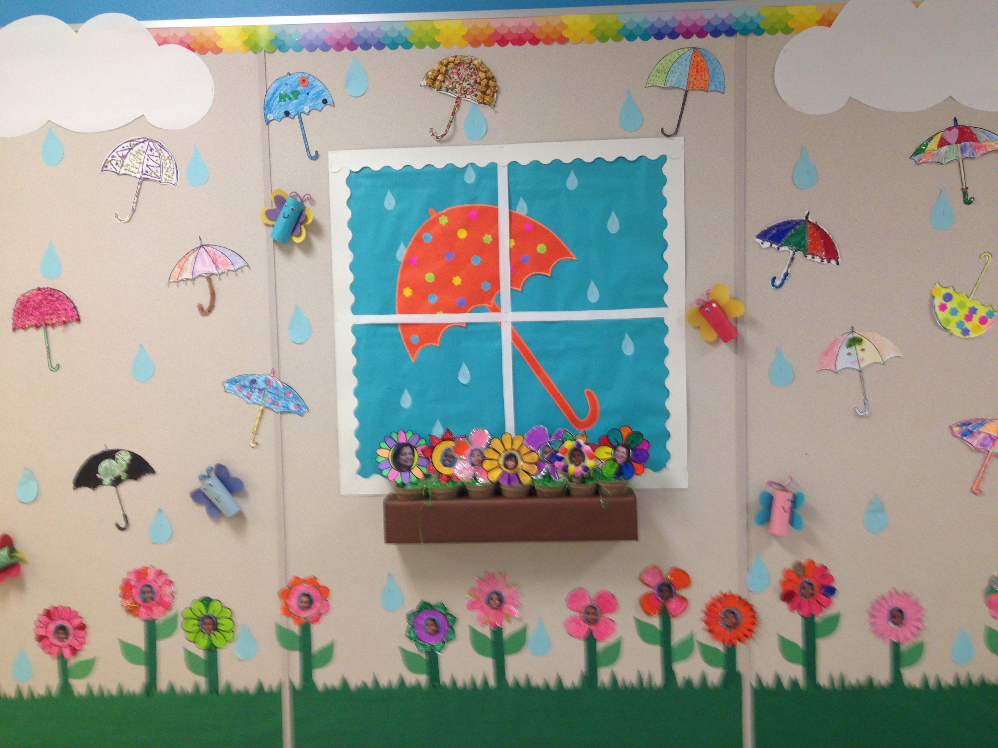 Window And The Rainy Day Bulletin Board