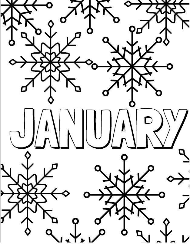 Months Of The Year Coloring Pages Months In A Year Coloring Pages Coloring Pages Winter