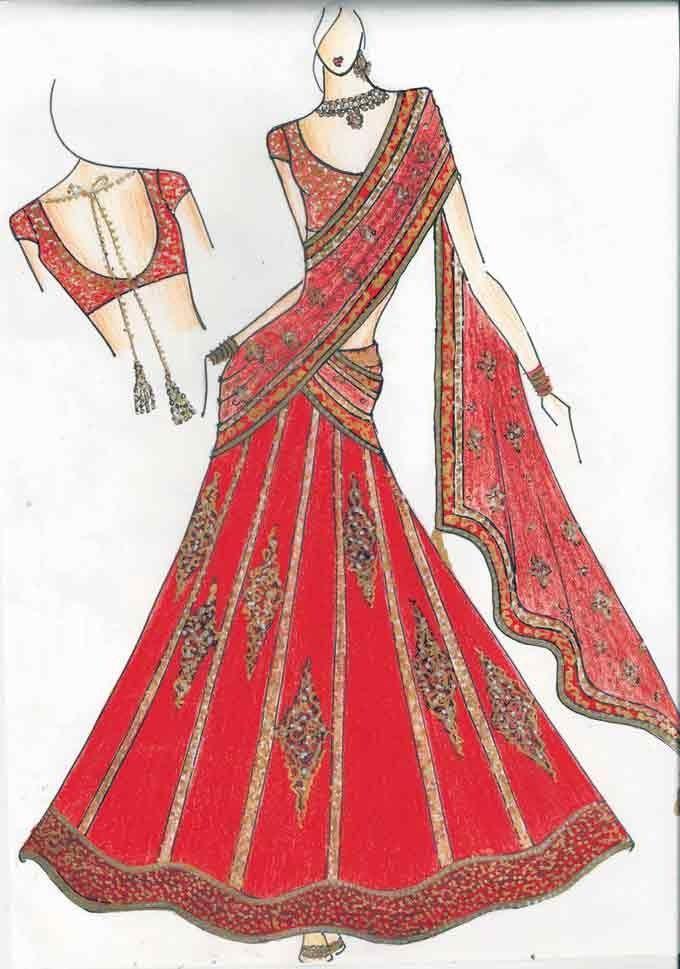 Indian Fashion Sketch Dress Design Sketches Fashion Sketches Fashion Illustration Sketches
