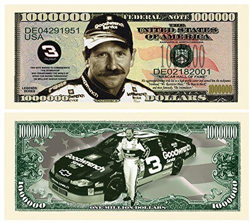 Dale Earnhardt Million Dollar Novelty Bill Collectible American ...