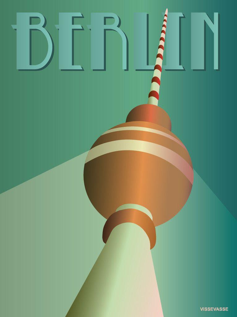 Vissevasse Berlin Vissevasse Vintage Travel Retro Travel Poster Berlin
